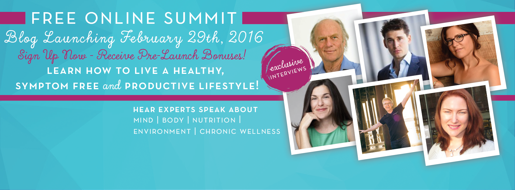 Pre-Launch Page - Chronic Wellness Summits